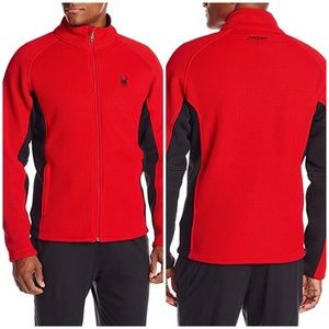SPYDER Red Foremost Full ZIP Fleece Jacket Large